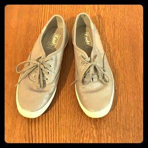 Women's silver Keds size 6